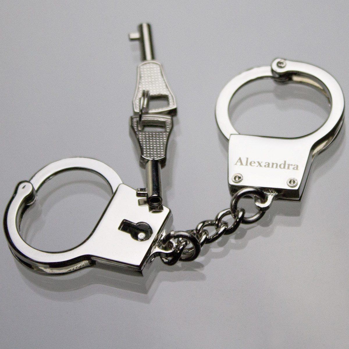 Liebes-Handschellen - Schlüsselanhänger mit Gravur