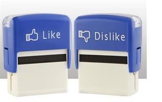 """Like"" und ""Dislike"" - Stempel"