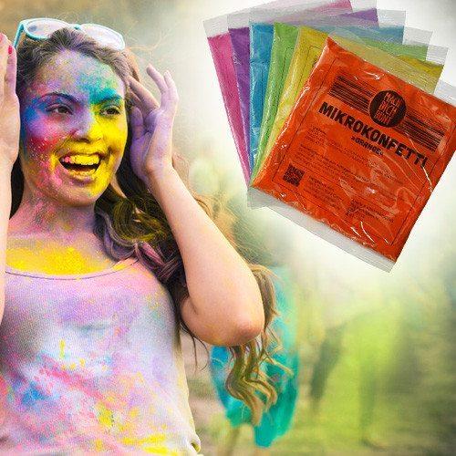 Mach dich bunt - Holi-Farben - 6er Pack