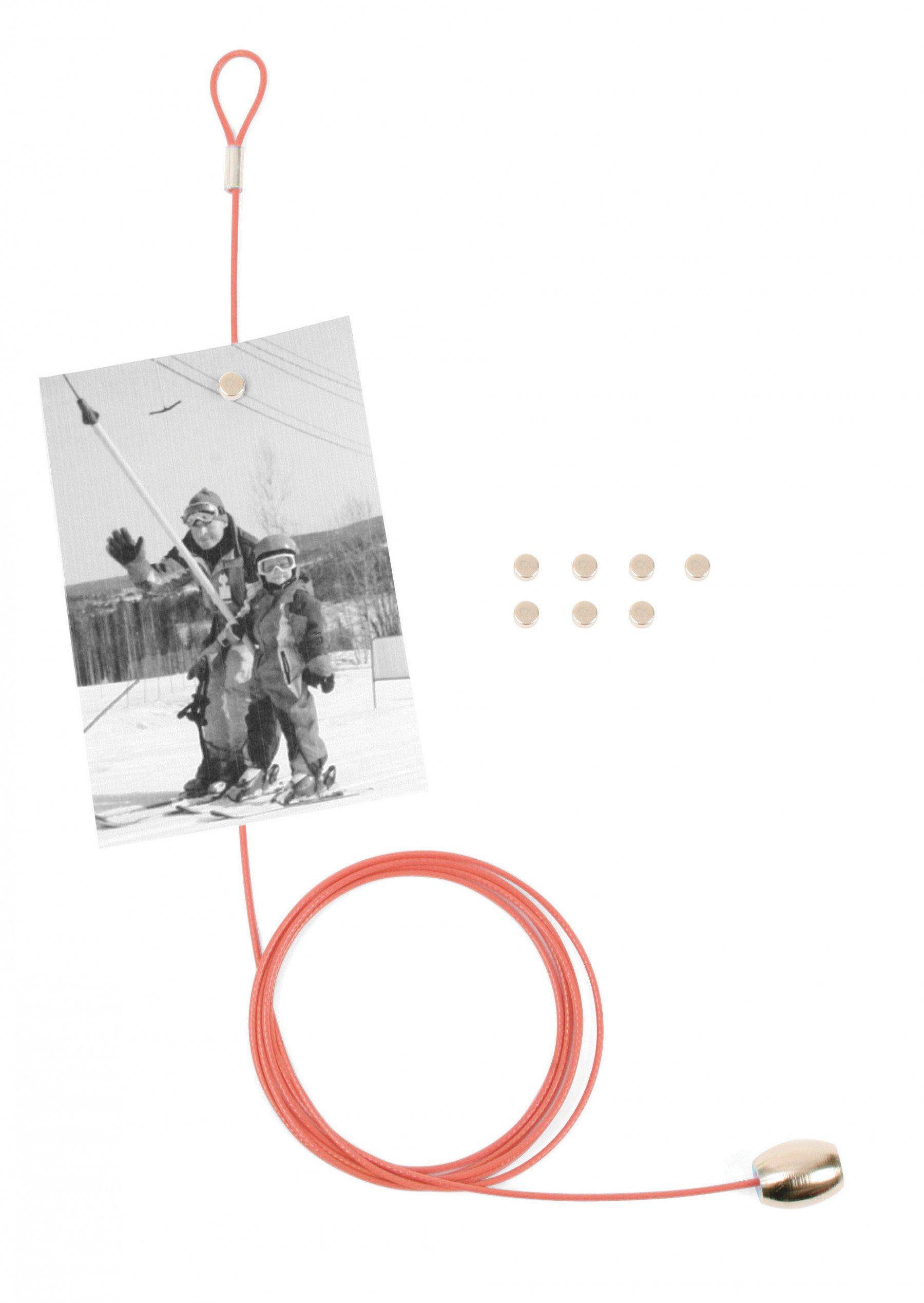 Magnetischer Fotohalter für 8 Bilder rot