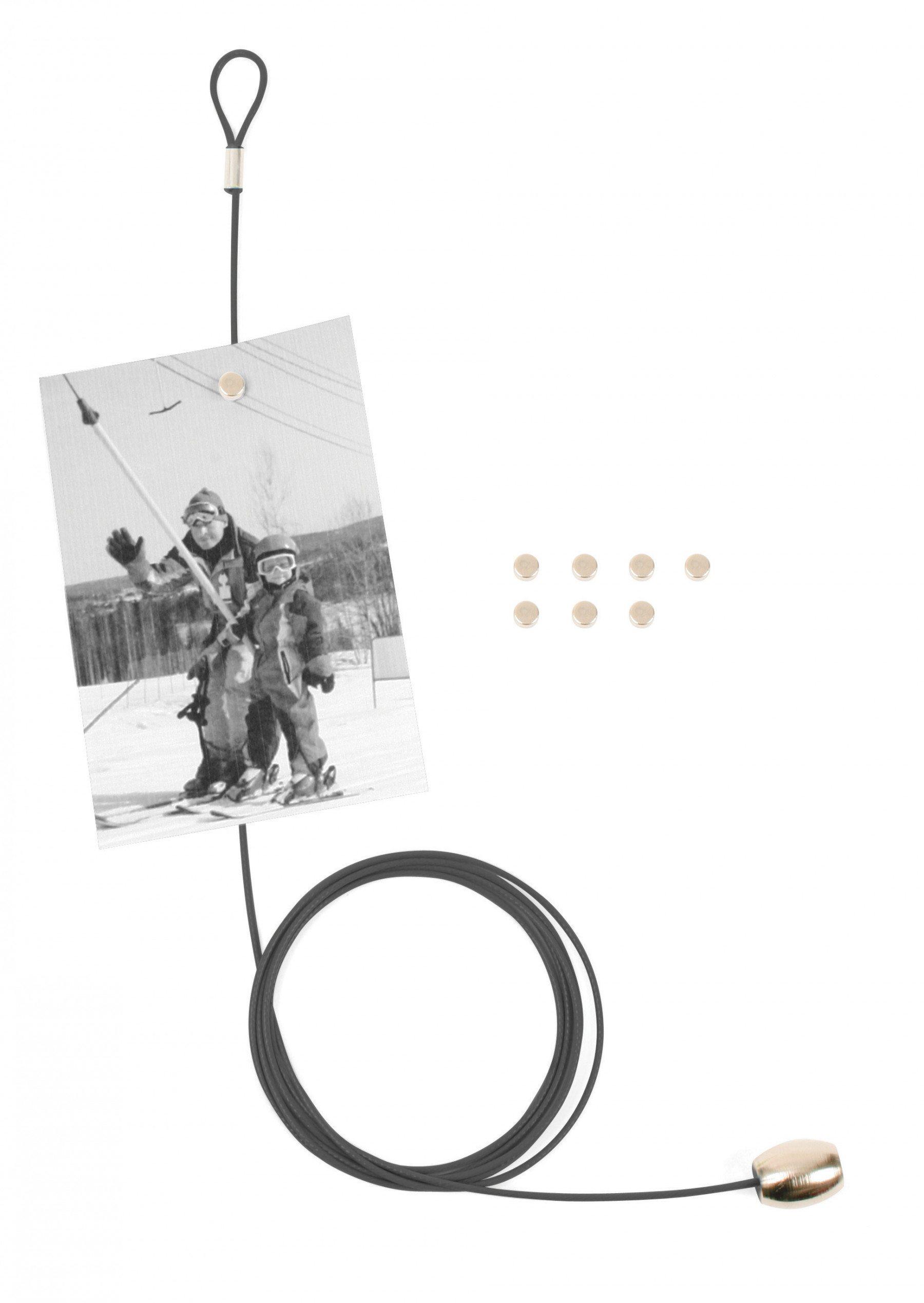 Magnetischer Fotohalter für 8 Bilder schwarz