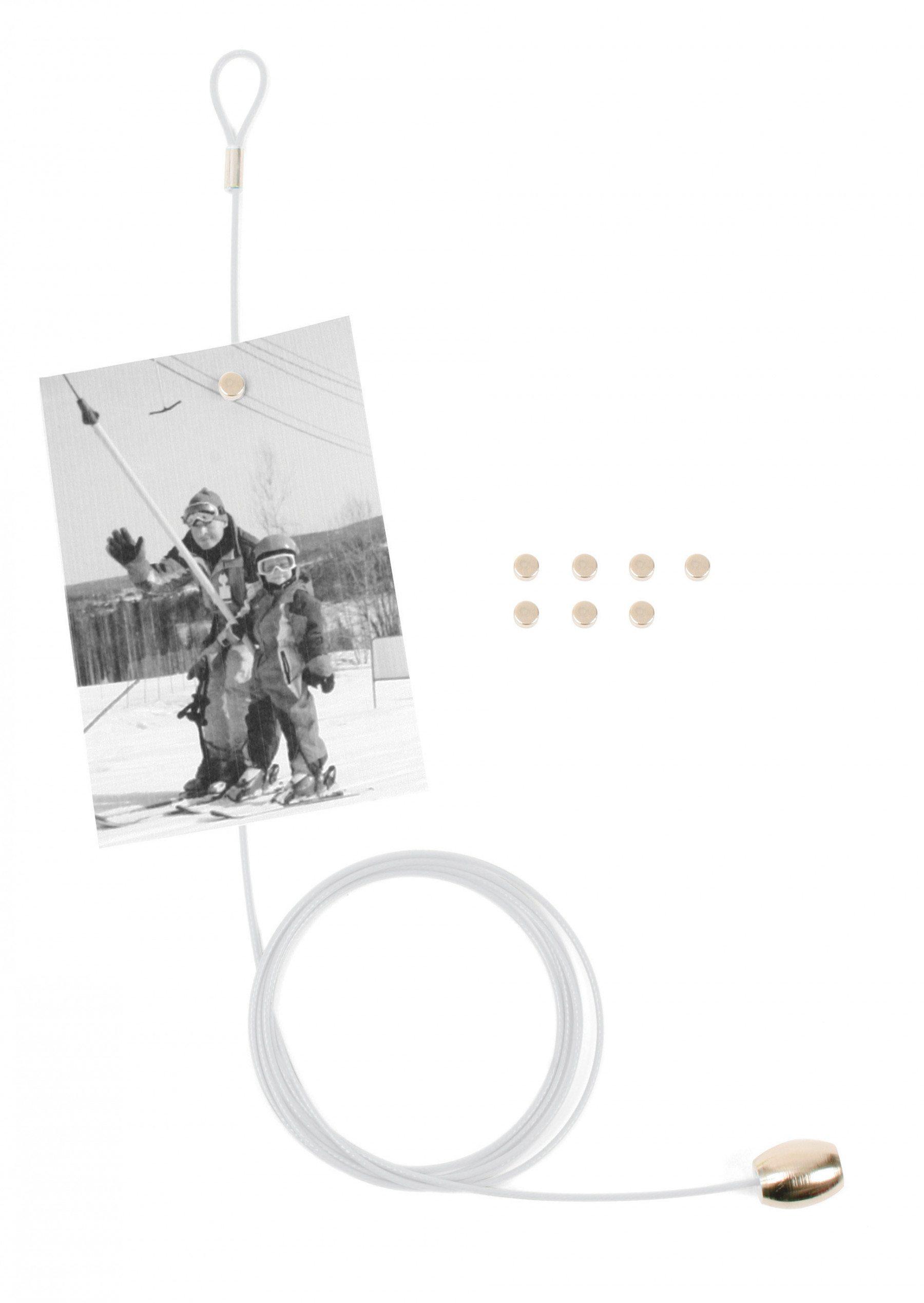 Magnetischer Fotohalter für 8 Bilder weiß