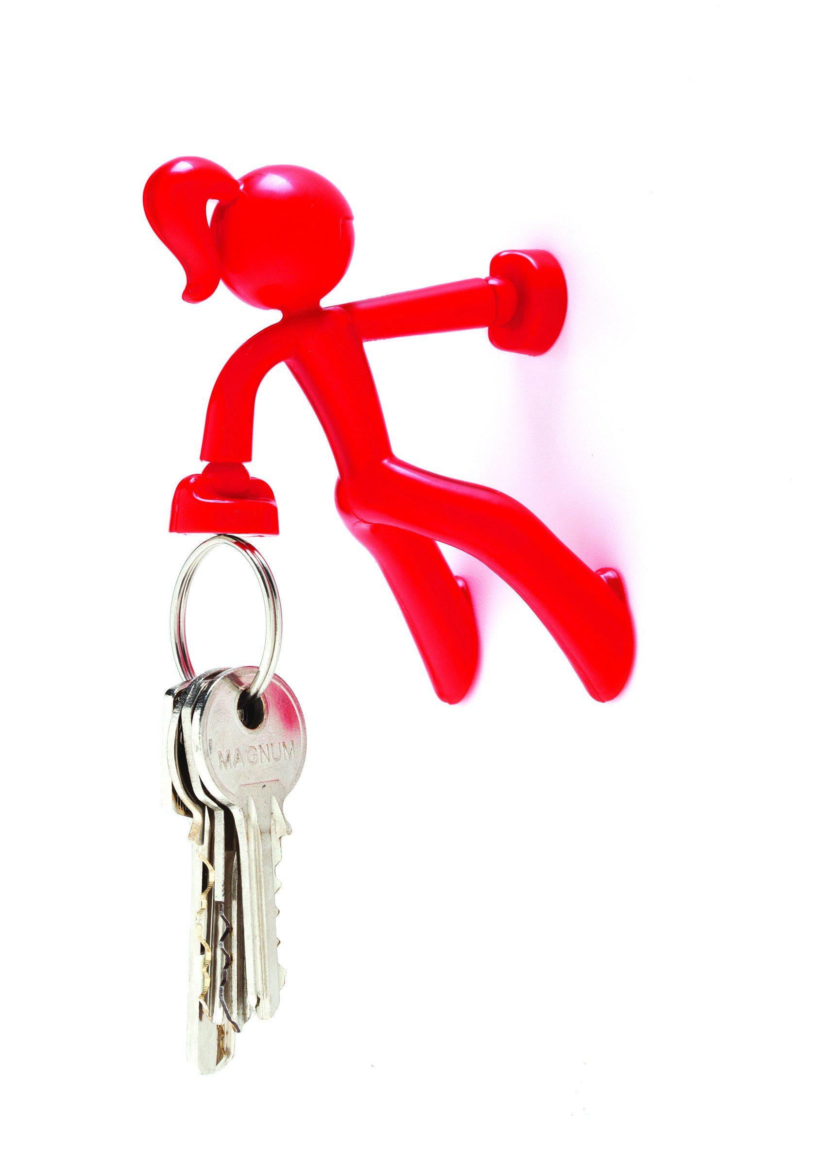 Magnetischer Schlüsselhalter Petite rot