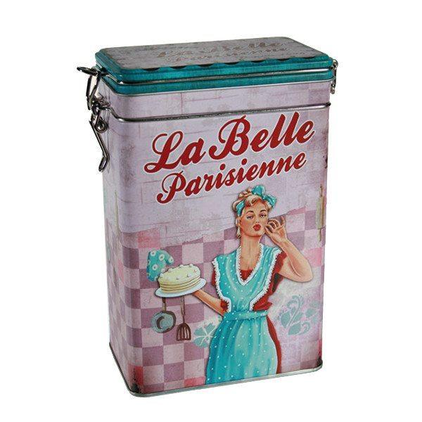 "Metall-Kaffeedose ""La belle Parisienne"""