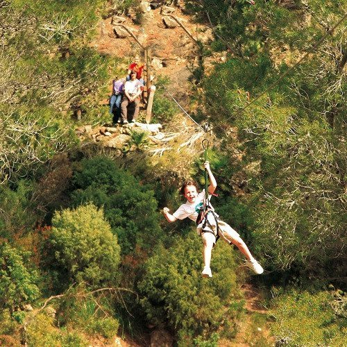 Multiaventura en parque natural - Mallorca