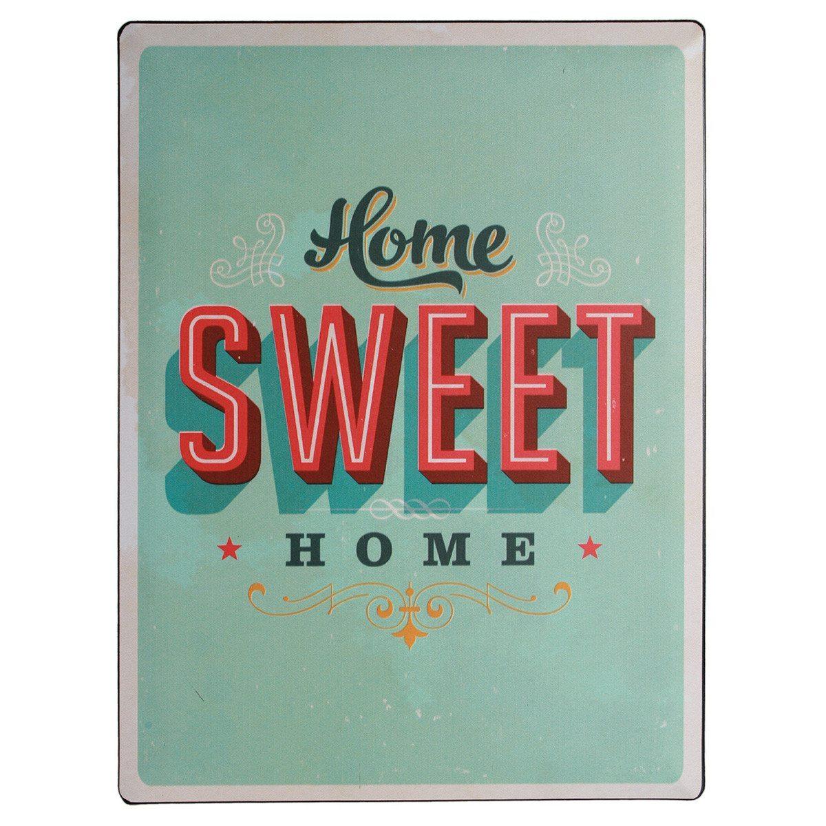 """Nostalgie-Blechschild """"home sweet home"""""""