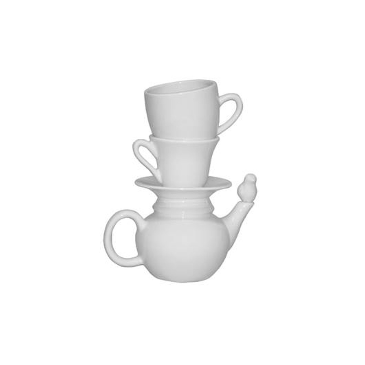 "Originelle Vase ""Geschirrstapel"""