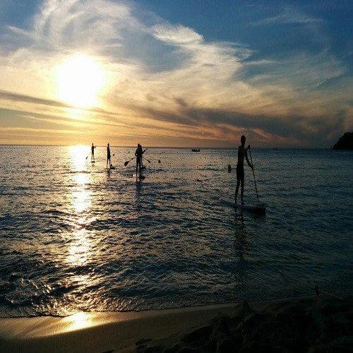 Paddle Surf más puesta de sol - Ibiza