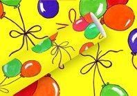 papel de regalo globos