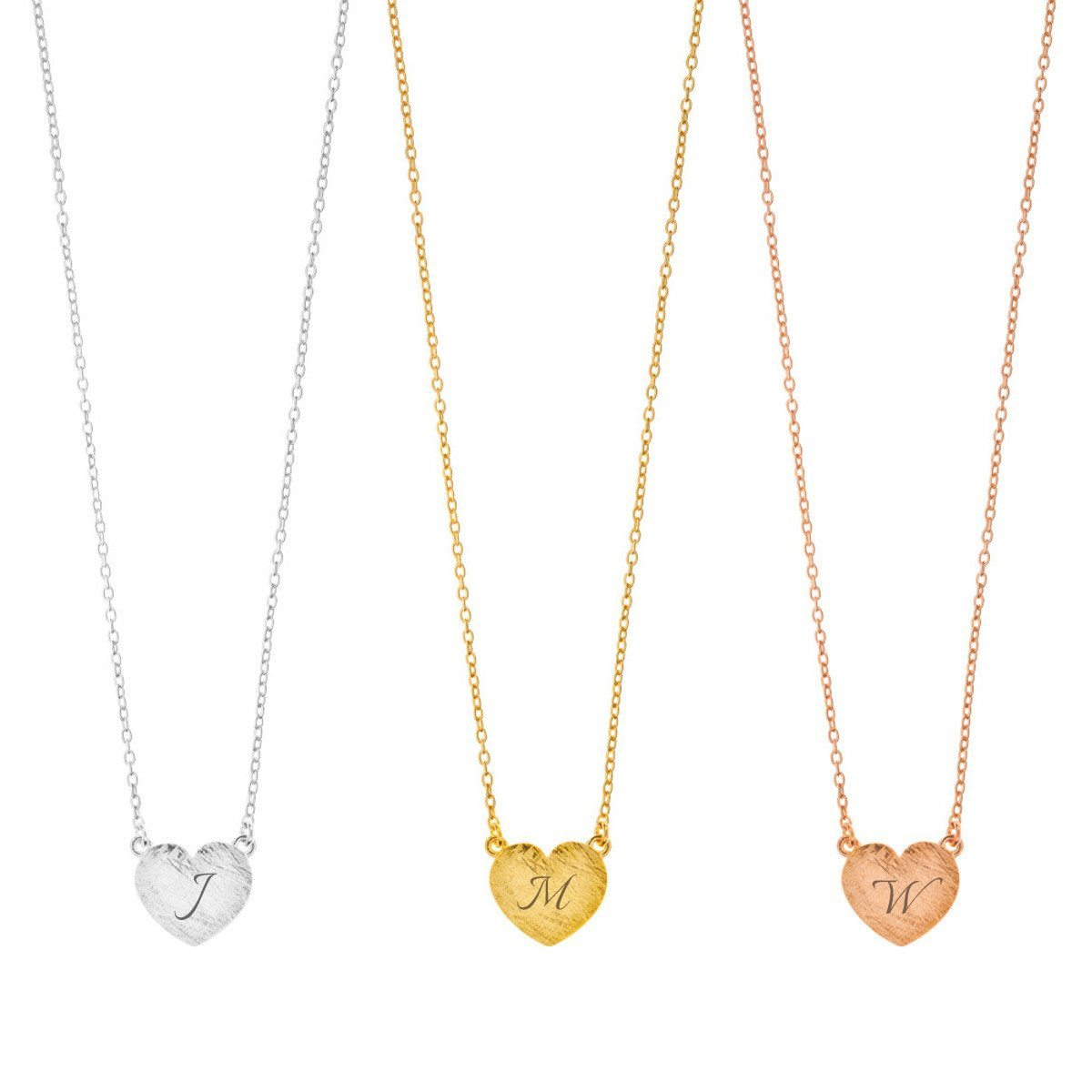 PERSONALIZED HEART DISC NECKLACE WITH NAME