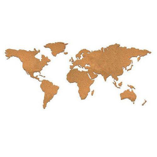Pinnwand-Weltkarte aus Kork