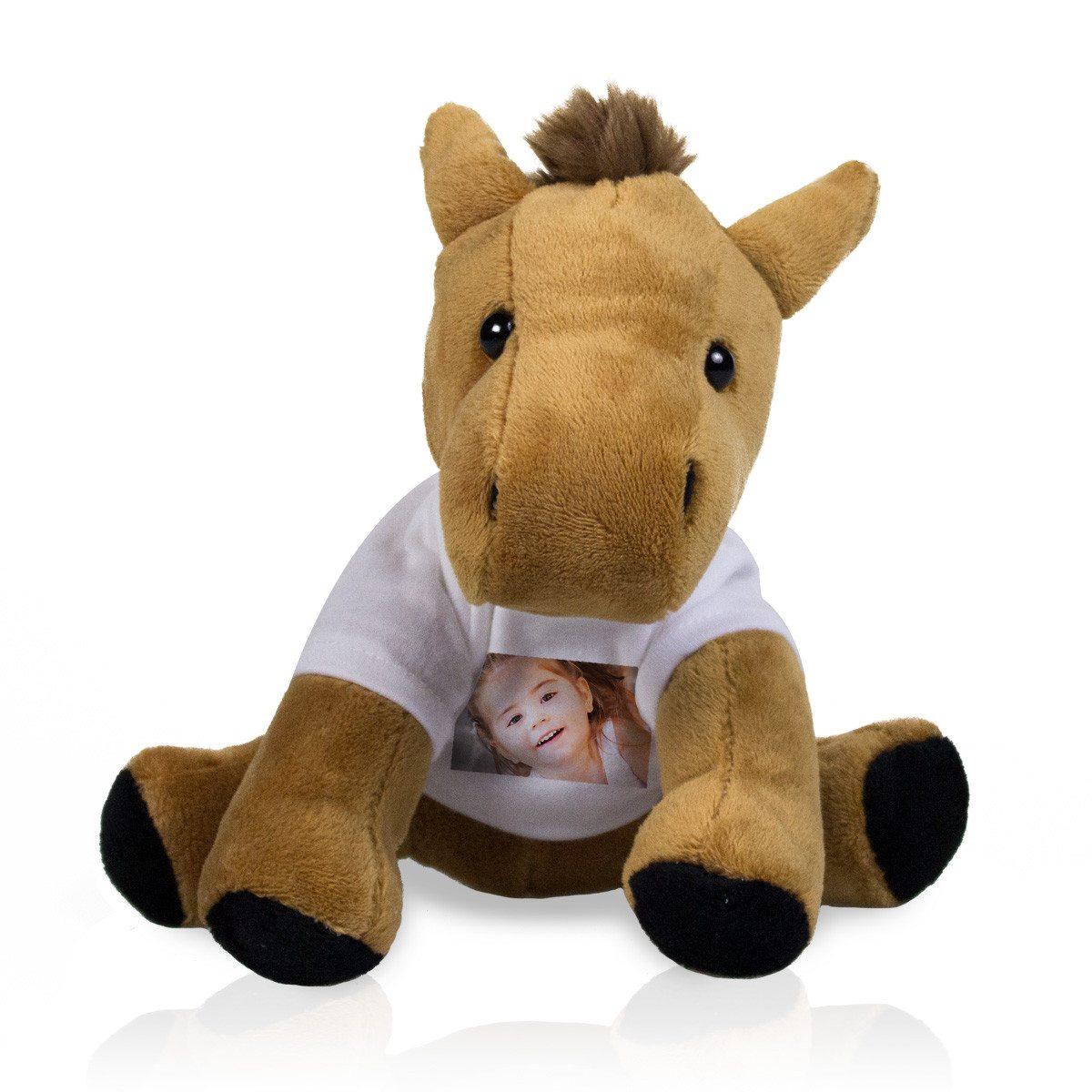 Peluche de pony con foto vistiendo vuestra mejor foto - Peluches con foto ...