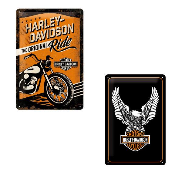 "Retro-Blechschild ""Harley Davidson"""