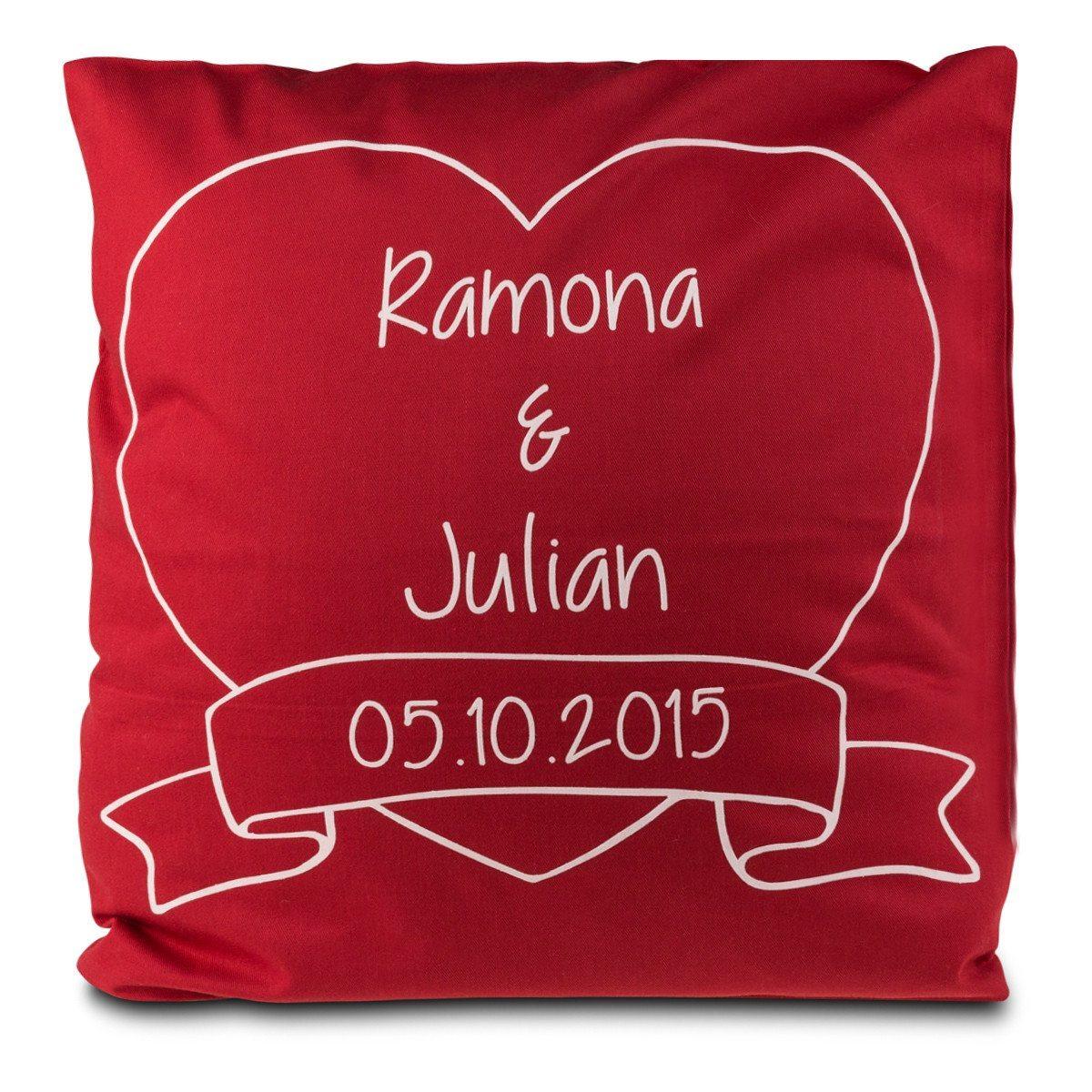 Romantik-Kissen mit Namen