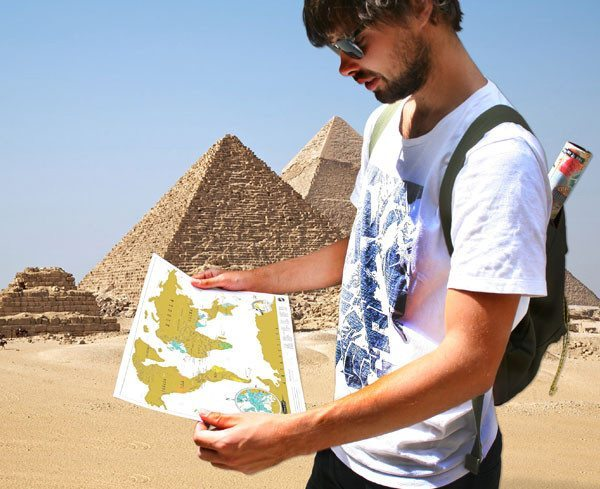 Rubbel-Weltkarte im Reiseformat praktisch für unterwegs