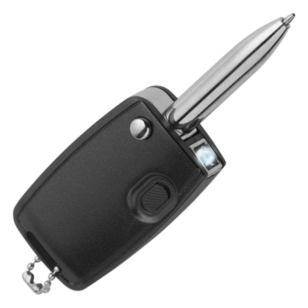 """Schlüsselanhänger """"Autoschlüssel"""" mit Stift und Licht"""