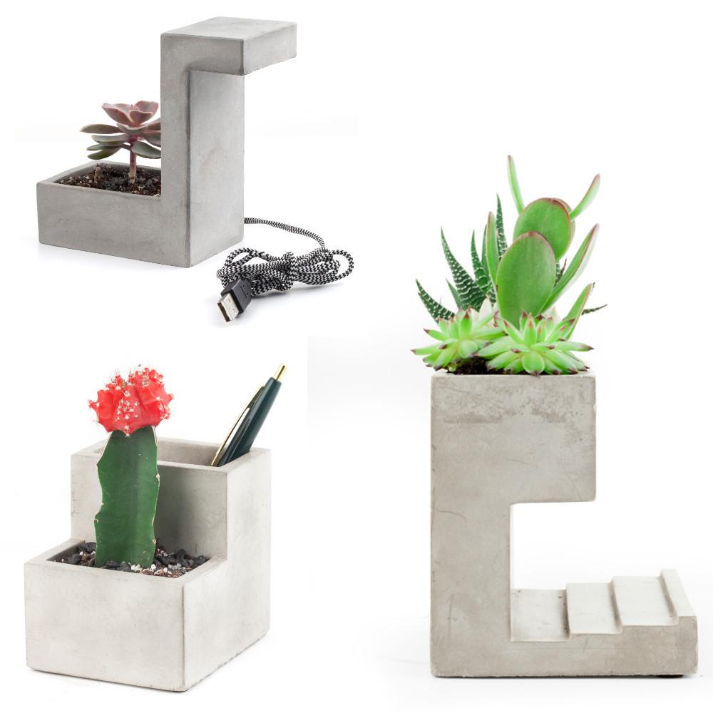 Schreibtisch-Blumentopf