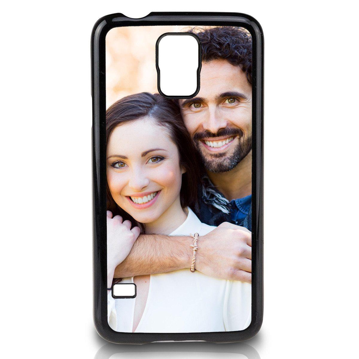 "Schwarzes ""Samsung Galaxy S5""-Cover bedrucken"