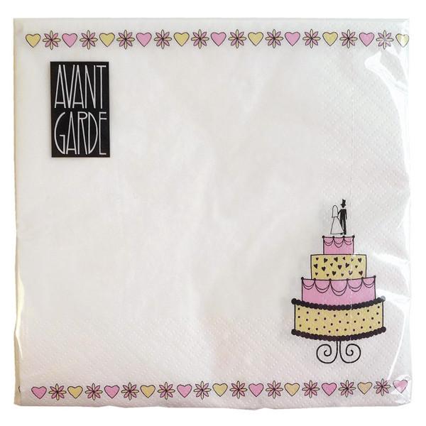 Serviette Wedding Cake