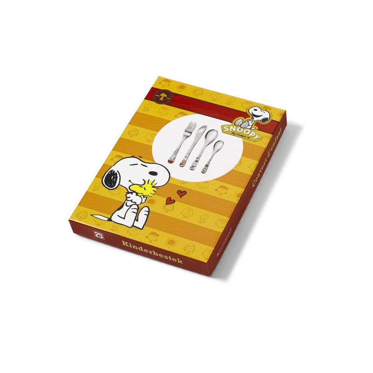Set de 4 cubiertos para niños de Peanuts con grabado