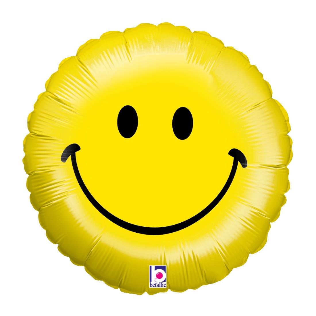 """SMILEY FACE 46 CM/ 18"""" HOLO"""