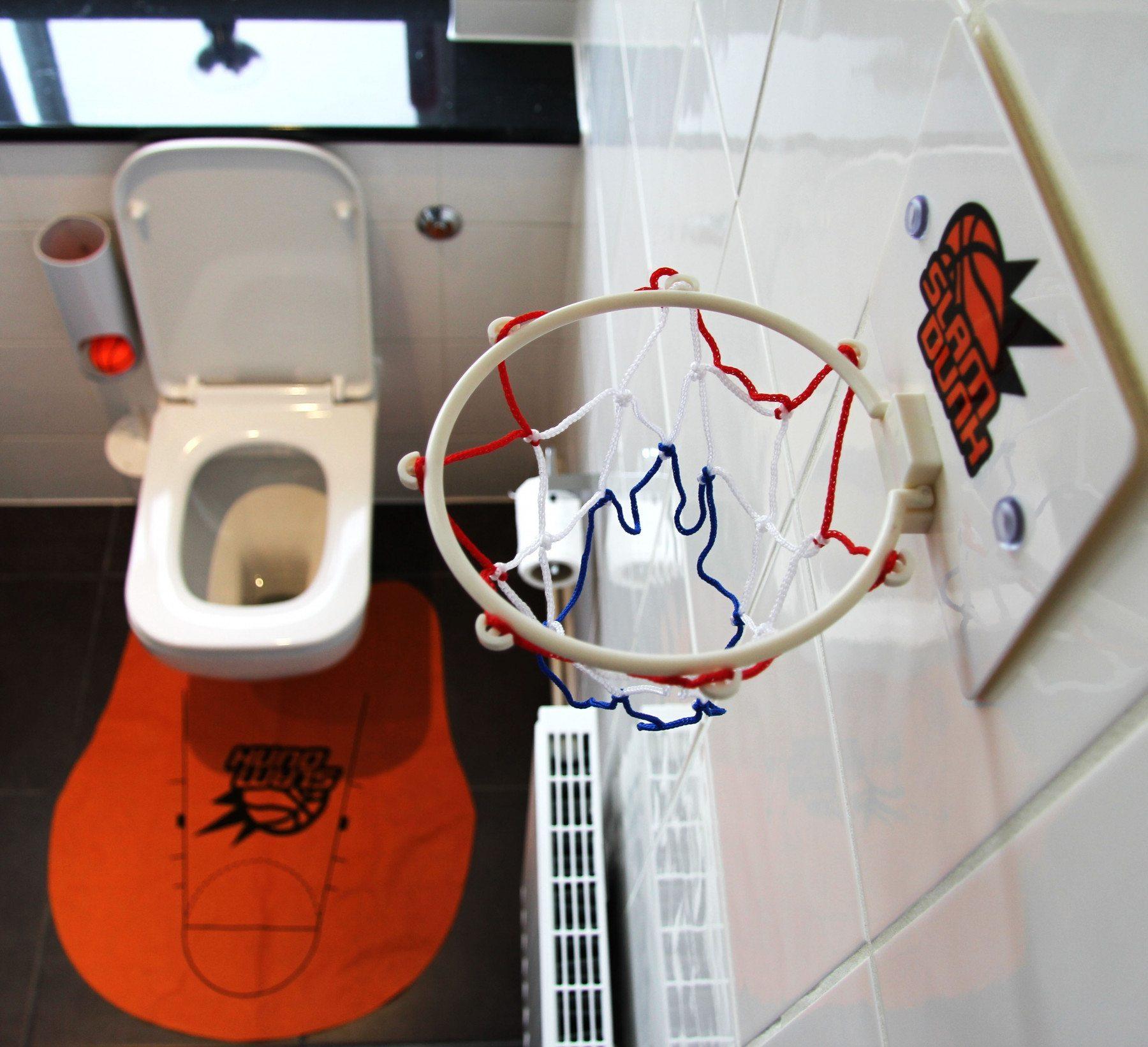 Sportliches Örtchen – Toiletten Basketball