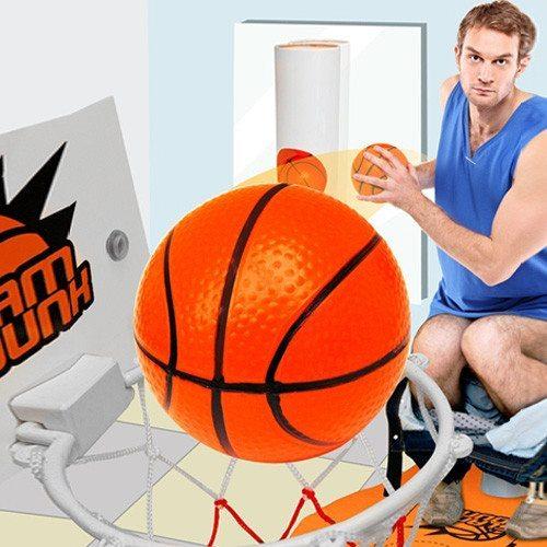 Sportliches Örtchen – Toiletten Basketball in Verpackung