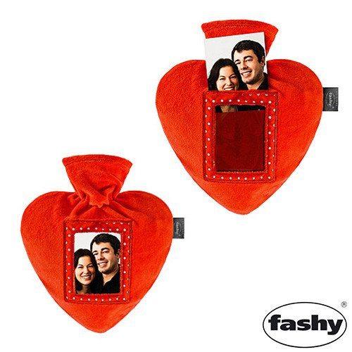 Süße Herz-Wärmflasche mit Foto