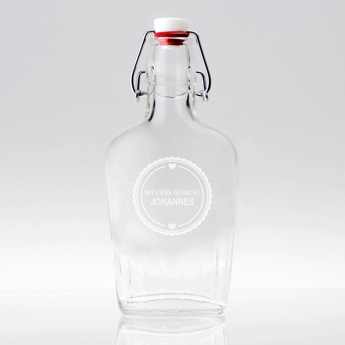 Taschenflasche 0,25l mit Gravur