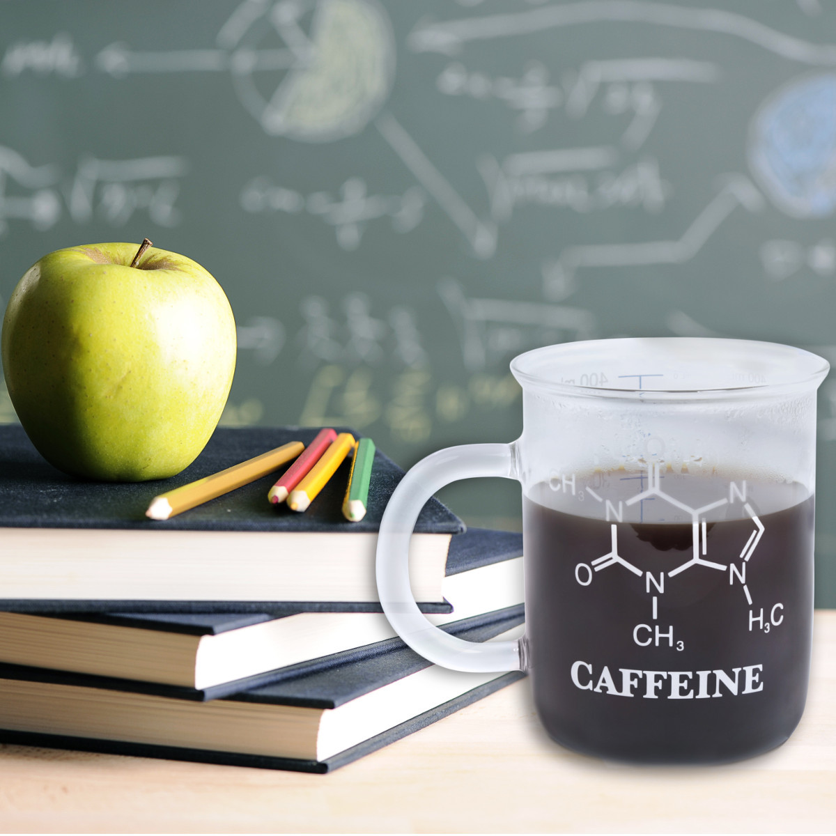 "Tasse ""C8H10N4O2 – Koffein"""