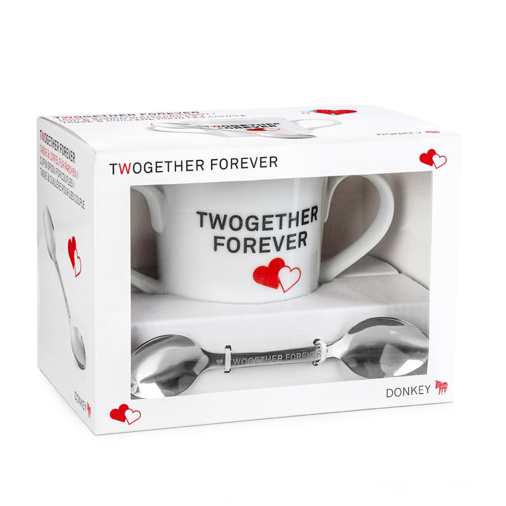 """Tasse und Löffel """"Twogether Forever"""""""