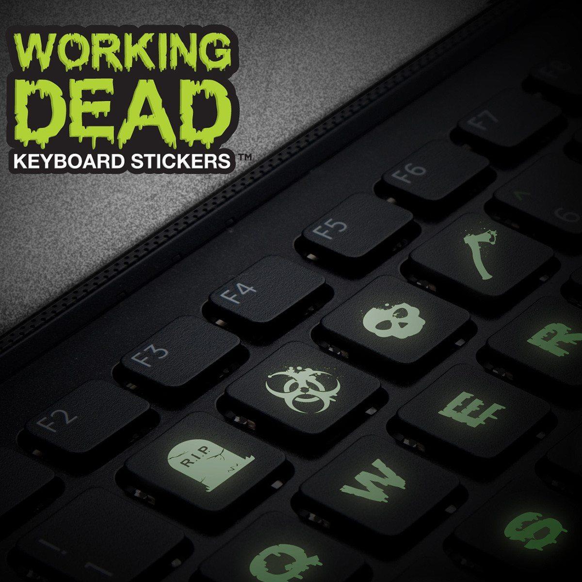 """""""The Working dead"""" - leuchtende Tastatur-Sticker"""