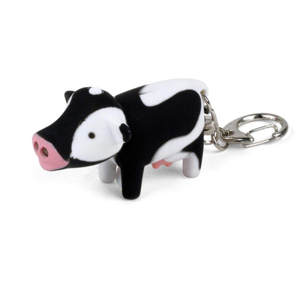 Tierische LED Schlüsselanhänger Kuh