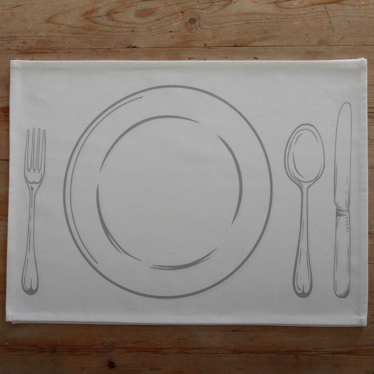 Tischsets zum Bemalen