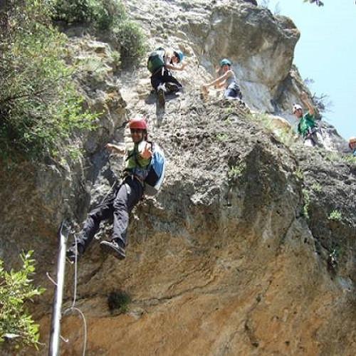 Vía Ferrata del Priorat con puente tibetano para 2 - Tarragona