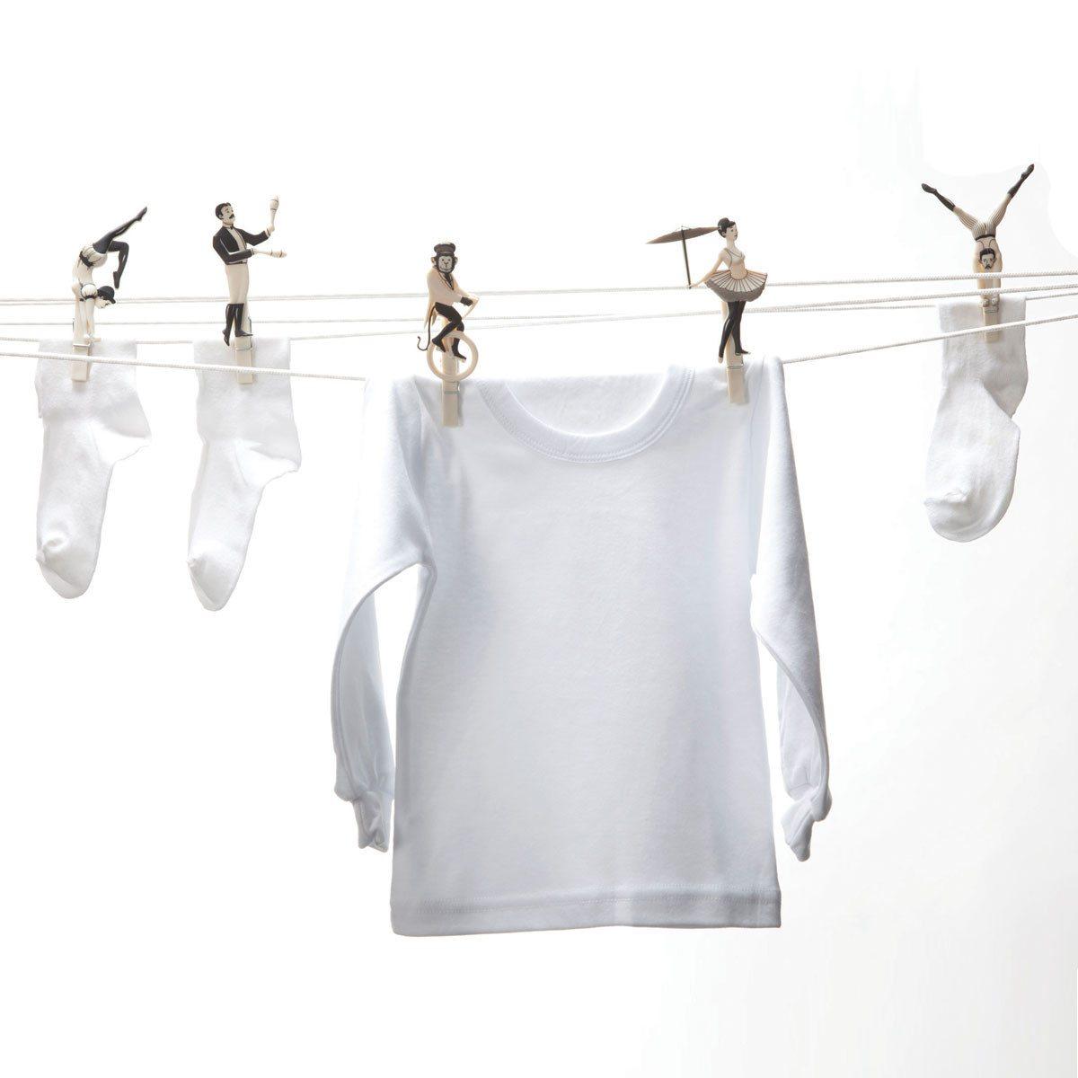 Wäscheklammern - Seiltanz