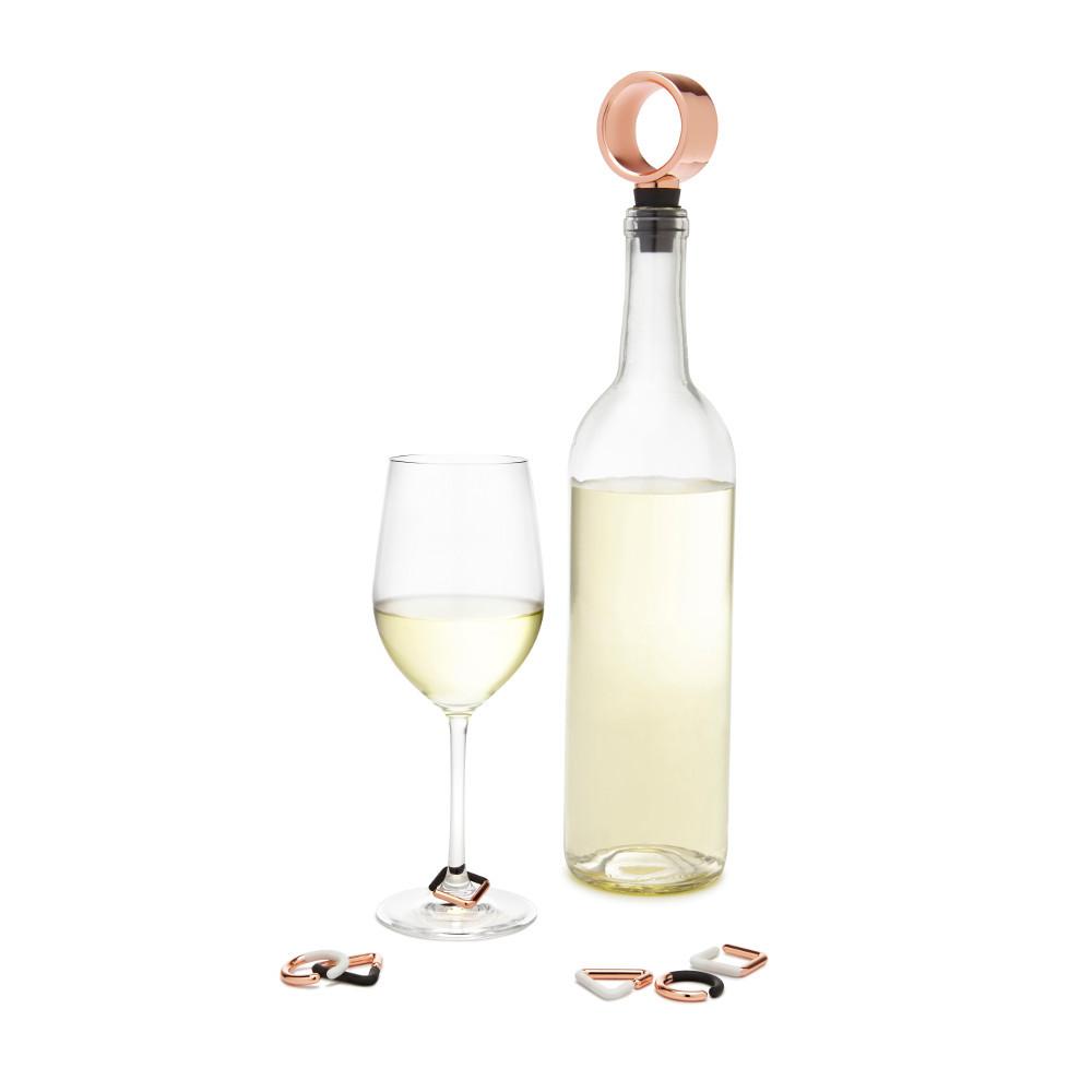 Weinverschluss und 6 Glasmarkierer