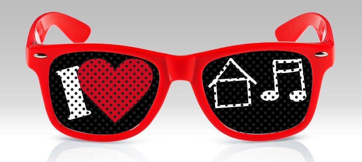 Witzige Brillen -I Love