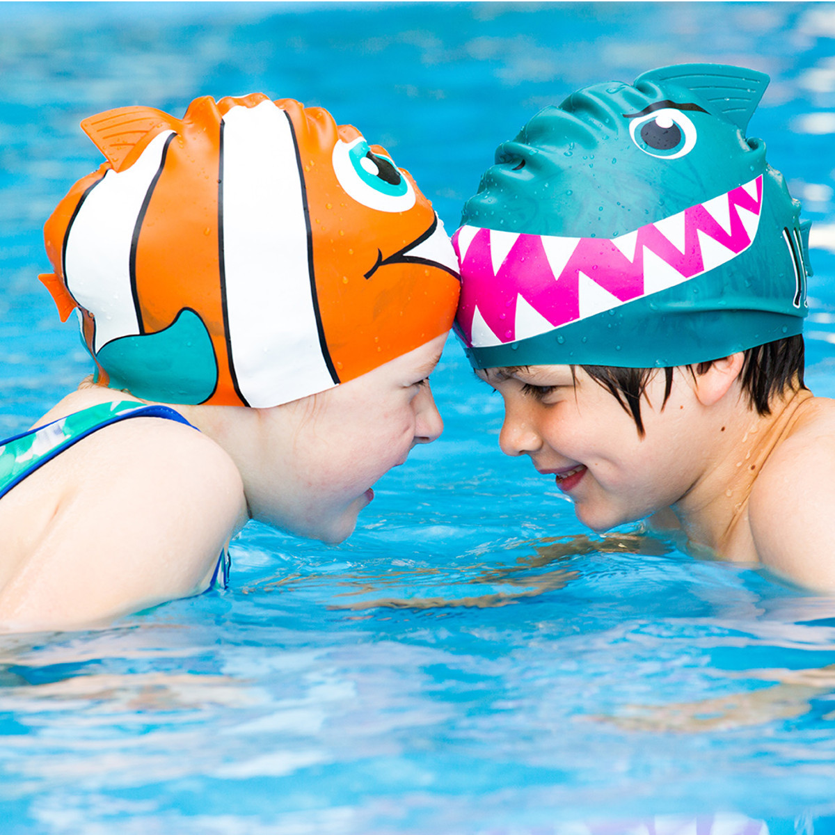 Witzige Kinder-Badekappen