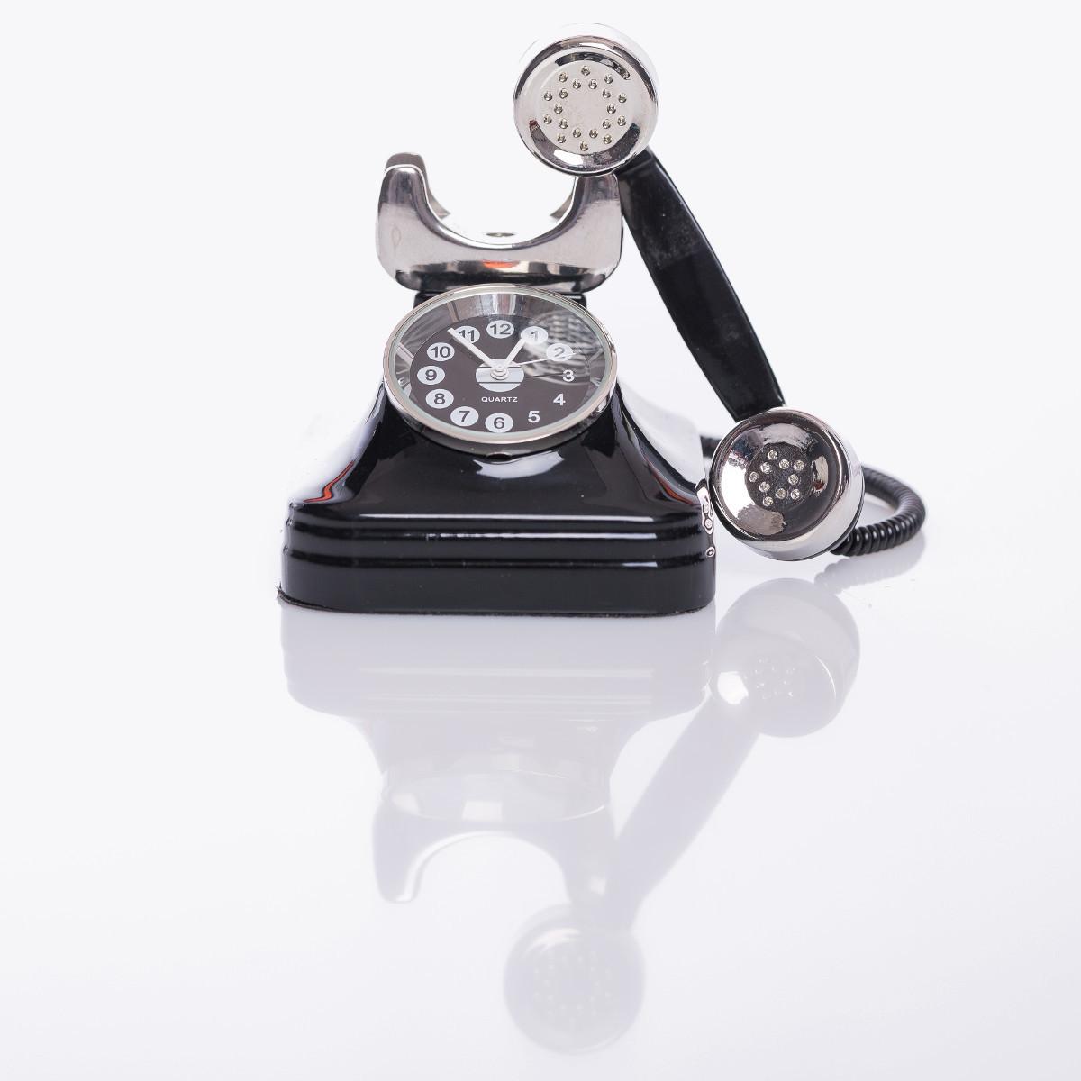 """Witzige Uhr """"Telefon"""""""