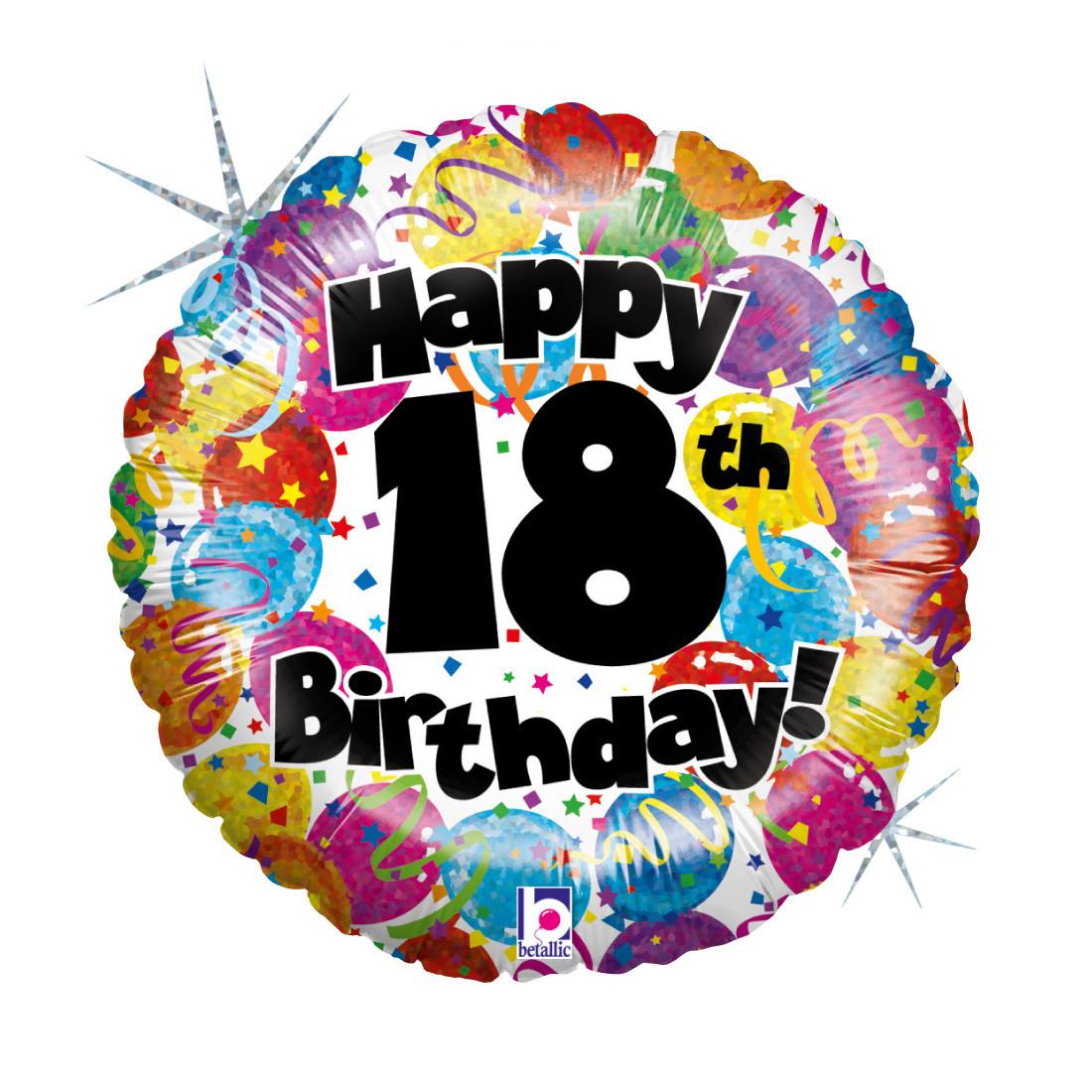 """18. HAPPY BIRTHDAY 46 CM/ 18 """" HOLO"""