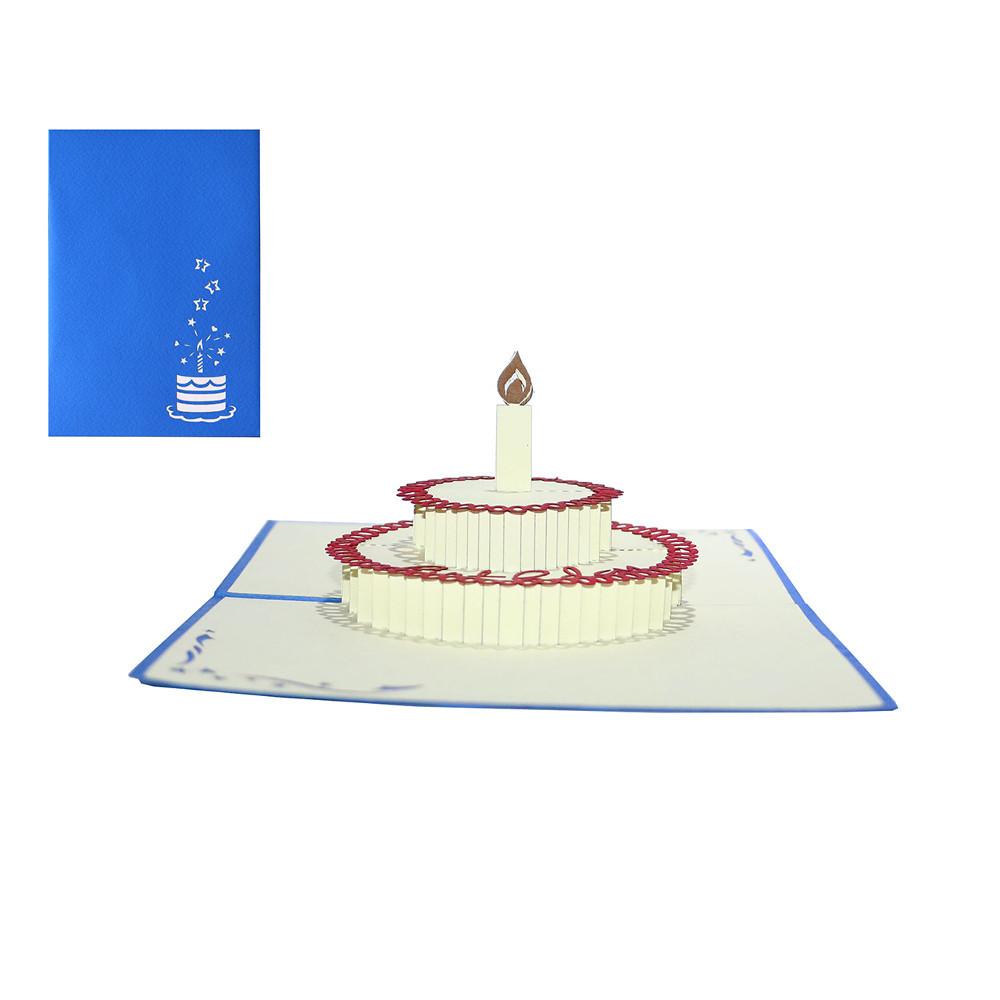 3D-Grußkarte mit Pop-up-Torte