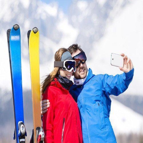 Aventura en la Nieva para dos: Clase de Esqui - Madrid