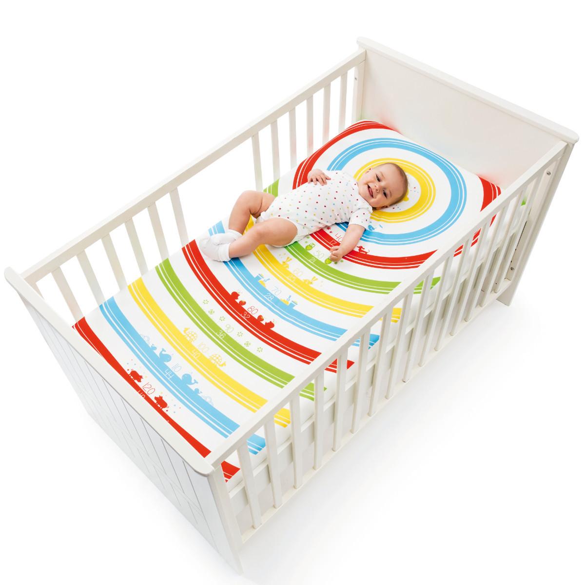 Sábana para bebé con tabla de medición