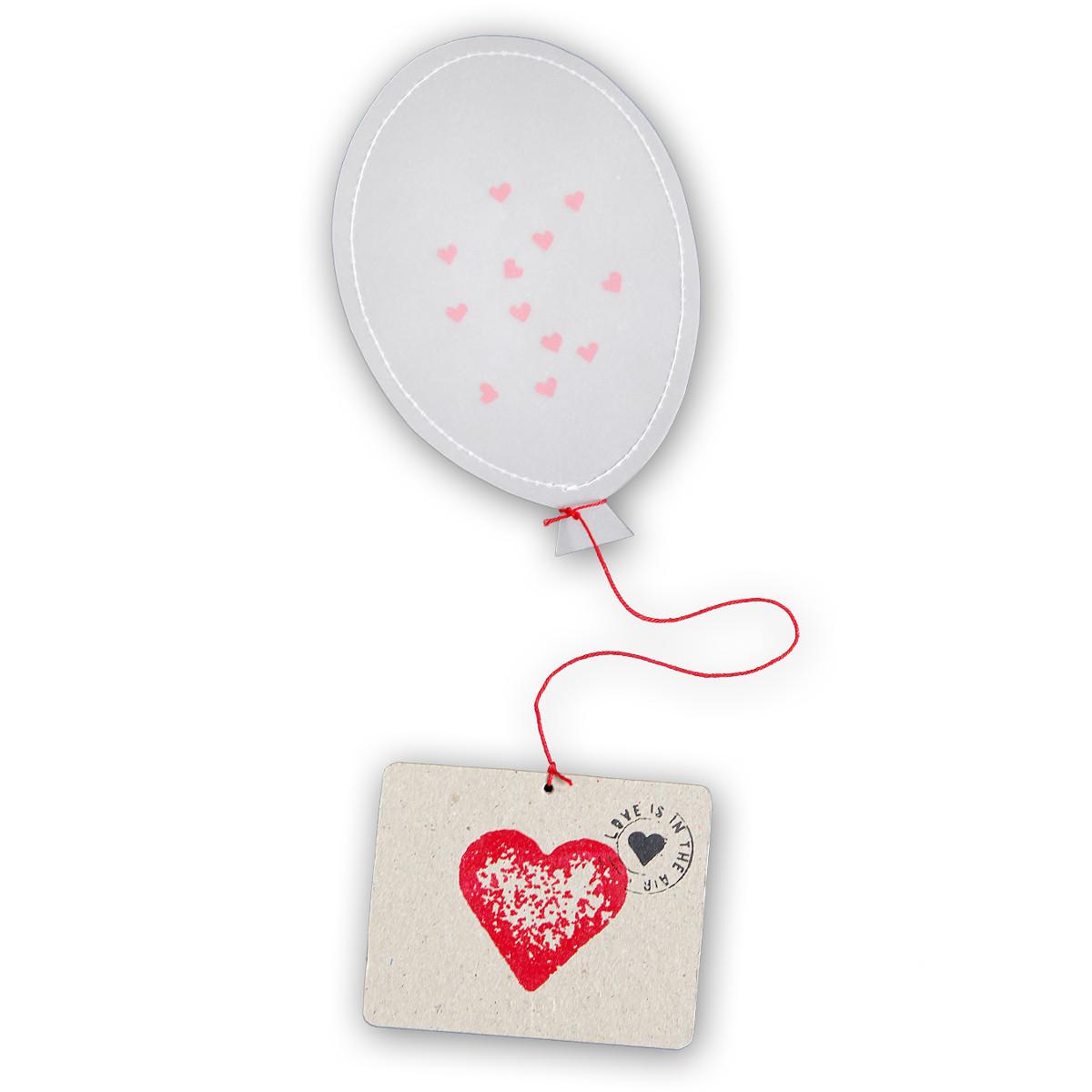 Globo con confeti y tarjeta– para felicitaciones únicas