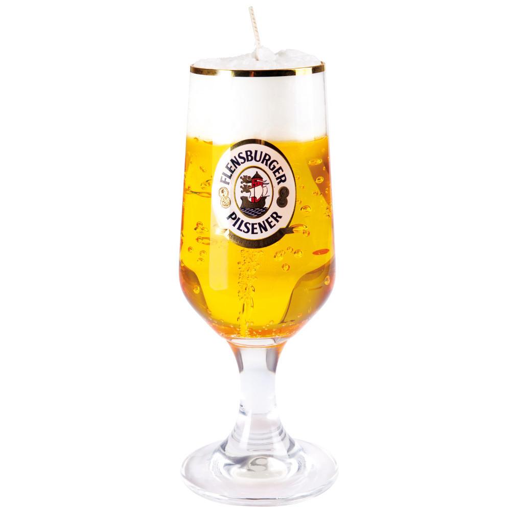 "Bierkerze ""Flensburger"""