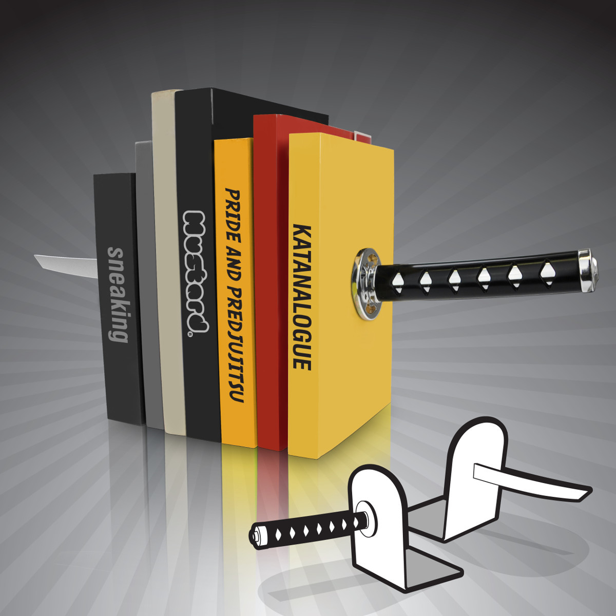 Sujeta-libros Katana – para todos los fans de Kill Bill