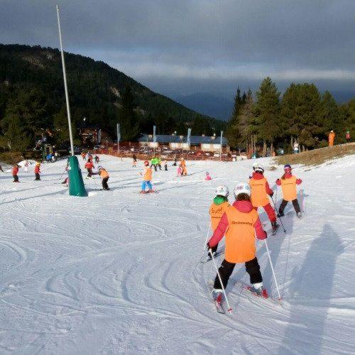Clase de Esquí en grupo - Gerona
