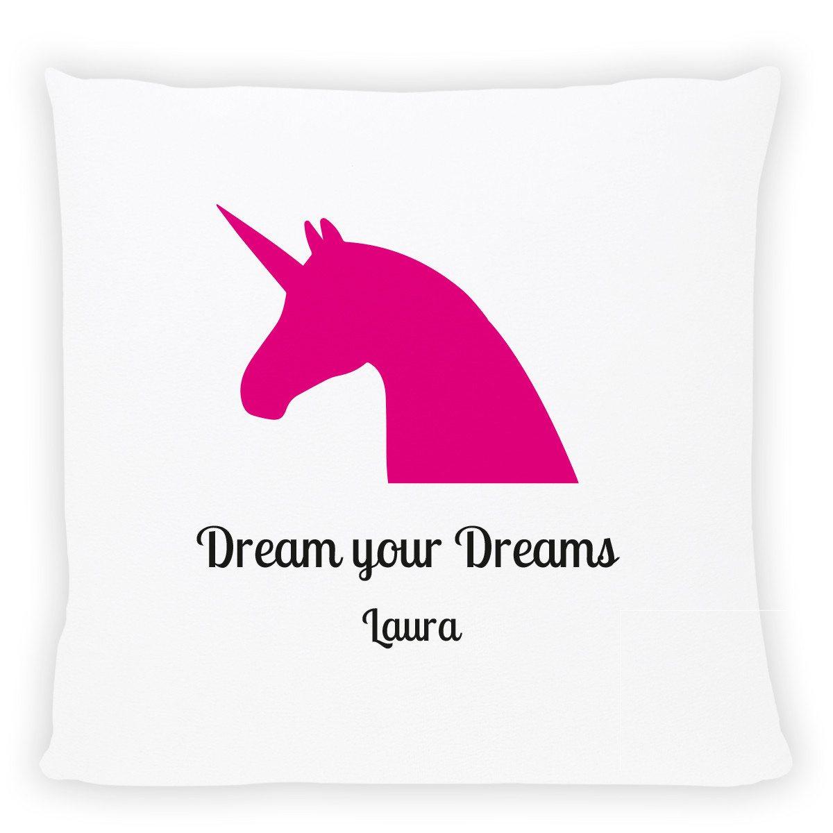 Cojín Unicornio Rosa – Personalizable con una frase tuya