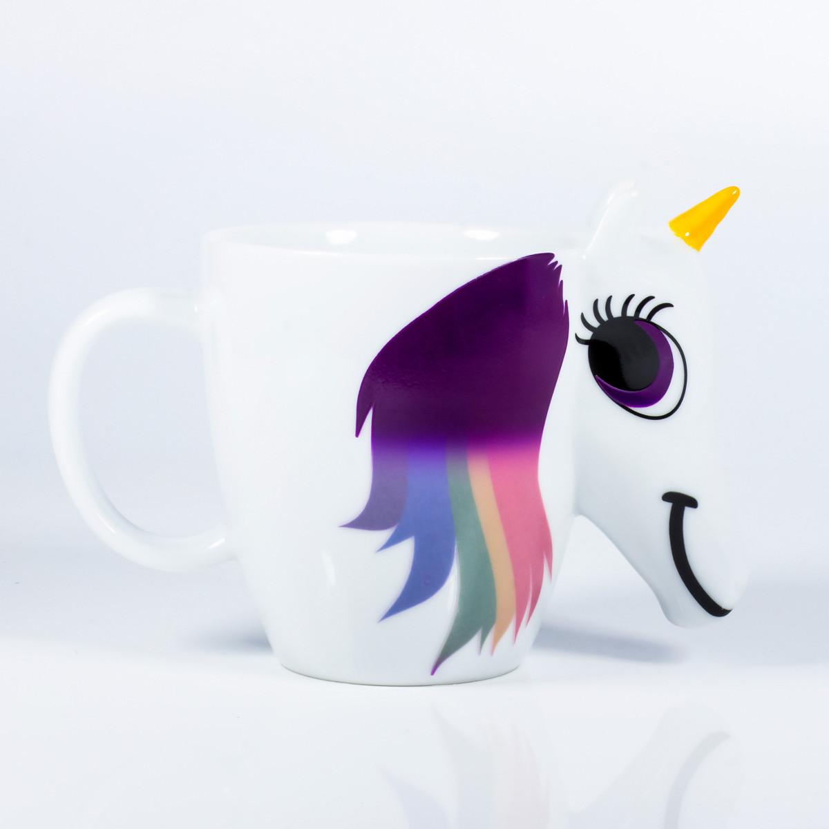 Taza mágica unicornio con cambio de color
